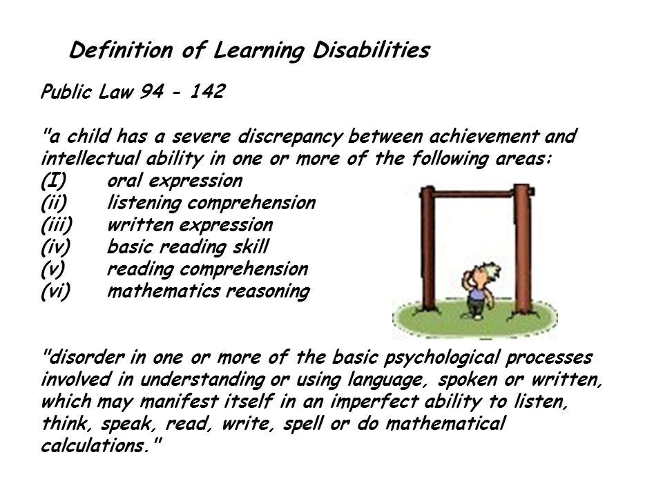 Definition of Learning Disabilities