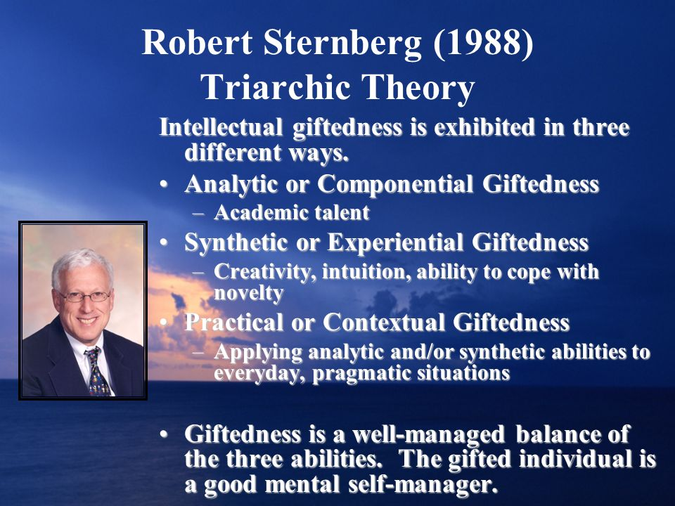 Robert Sternberg (1988) Triarchic Theory