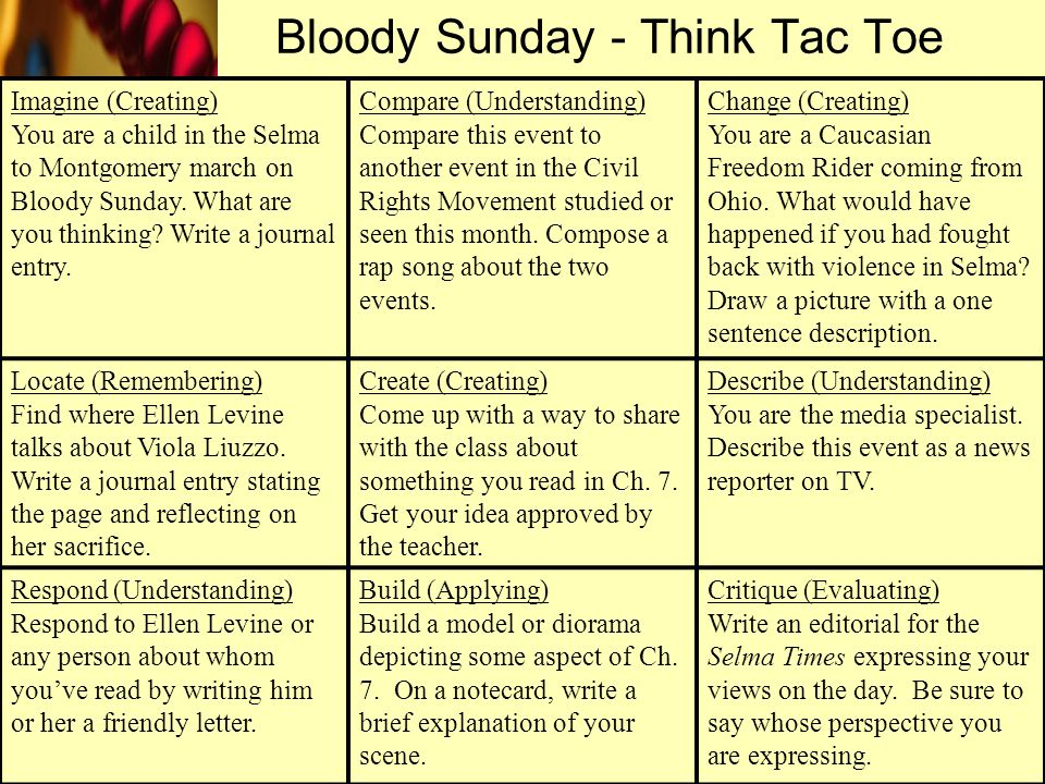 Bloody Sunday - Think Tac Toe
