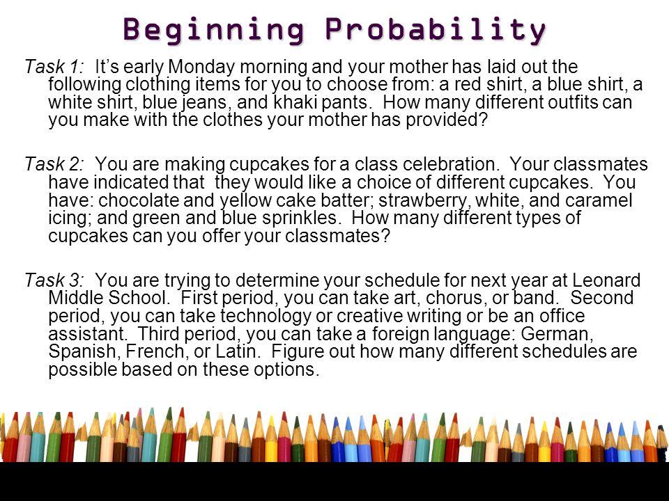 Beginning Probability