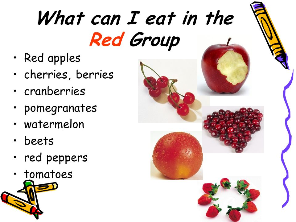 What can I eat in the Red Group