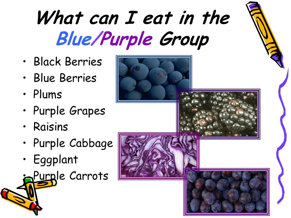 What can I eat in the Blue/Purple Group