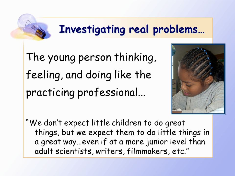 Investigating real problems…