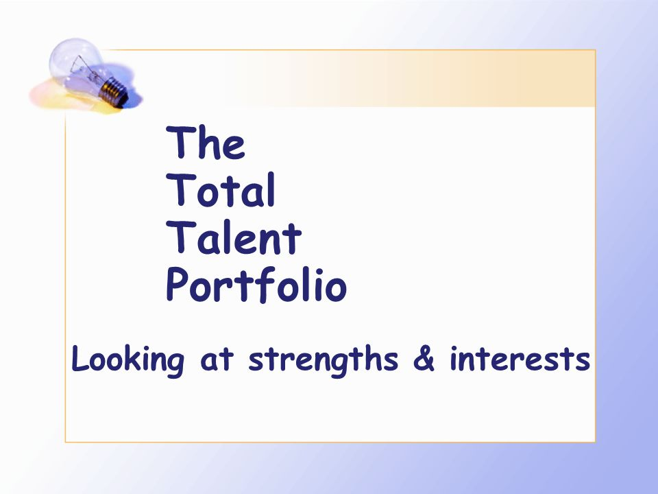 The Total Talent Portfolio