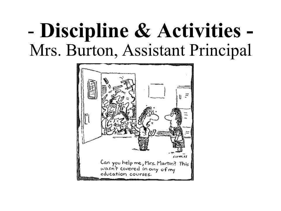 - Discipline & Activities -