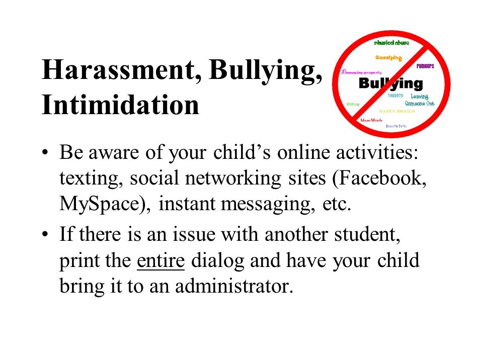 Harassment, Bullying, Intimidation