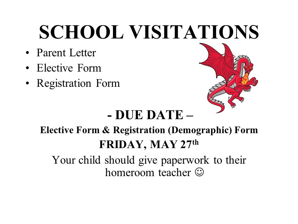 Elective Form & Registration (Demographic) Form