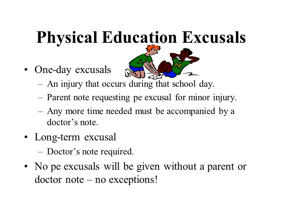 Physical Education Excusals