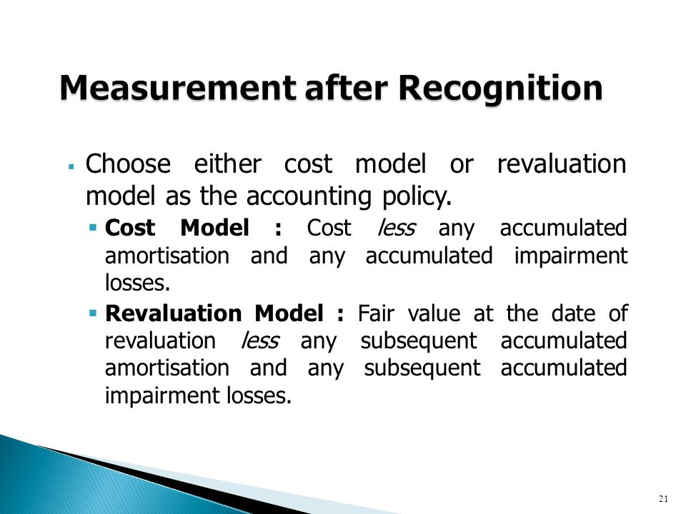 cost and revaluation models essay It is the choice of accounting method between cost model and revaluation model given that aasb 116 (ias 16) allows entities a choice between the cost model and the revaluation model, it is of interest to consider what may motivate entities to choose between the two.
