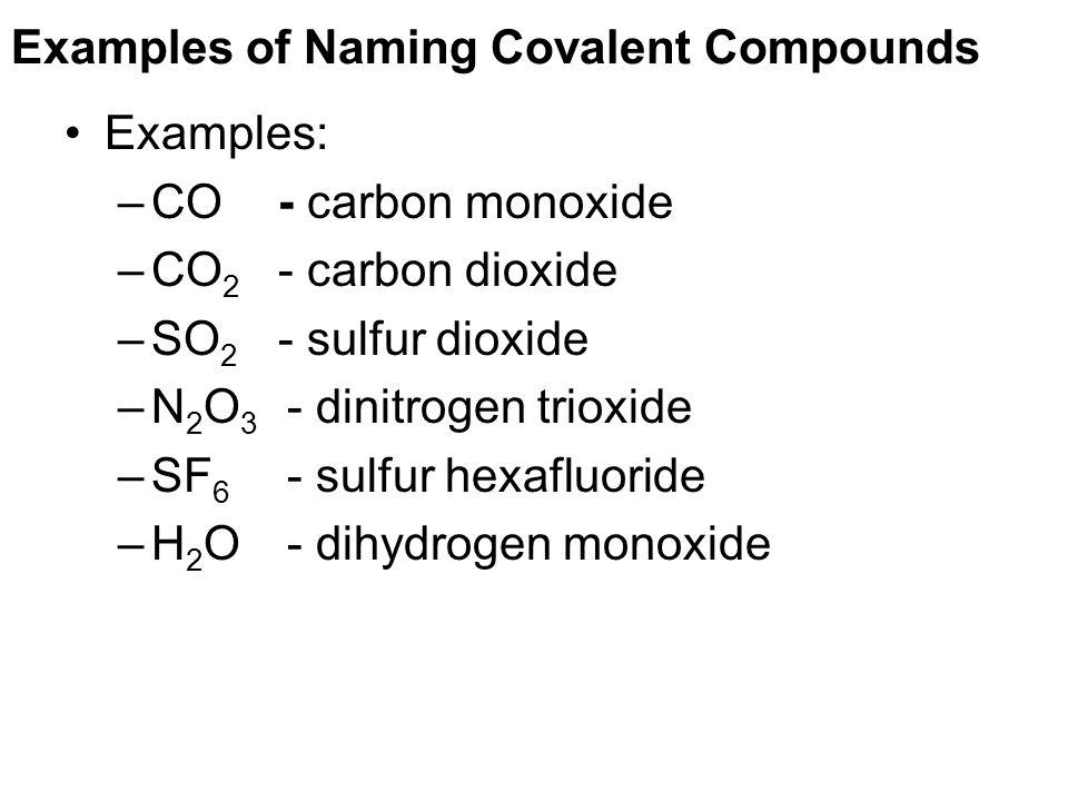 explain how to write formulas for molecular compounds