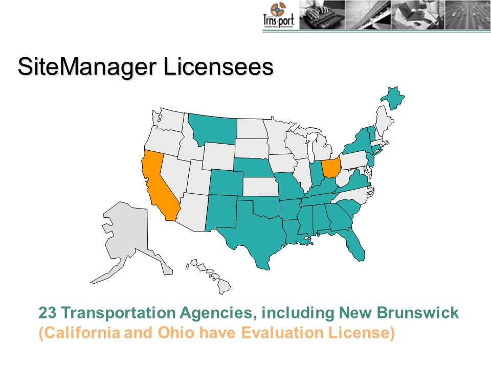 SiteManager Licensees