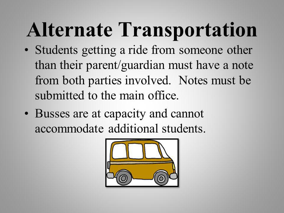 Alternate Transportation