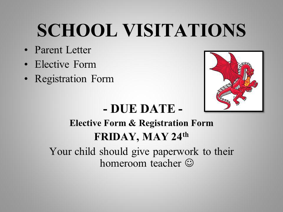 Elective Form & Registration Form