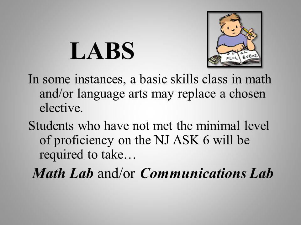 Math Lab and/or Communications Lab