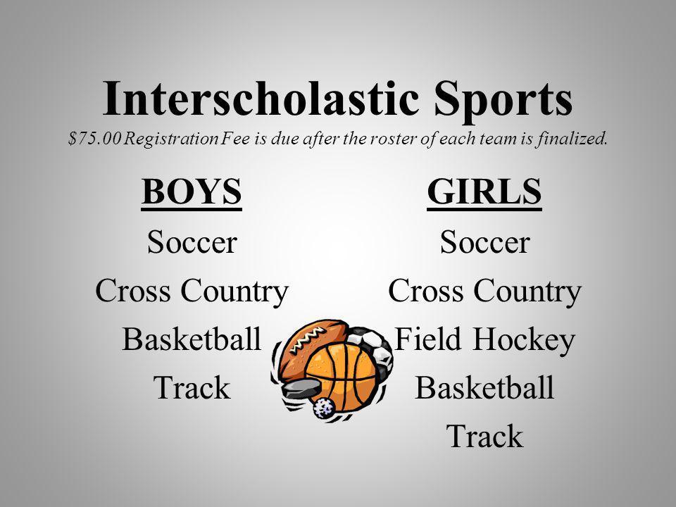 Interscholastic Sports $75