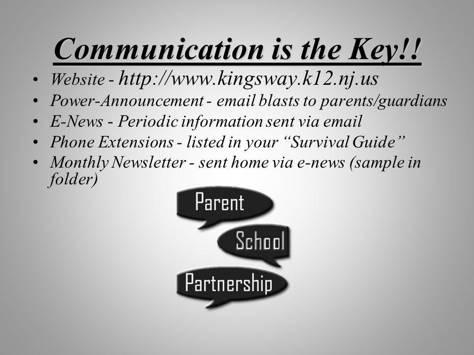 Communication is the Key!!