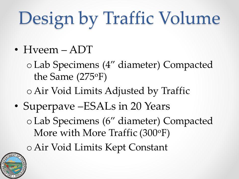 Design by Traffic Volume