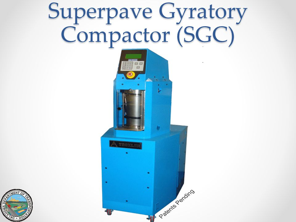 Superpave Gyratory Compactor (SGC)