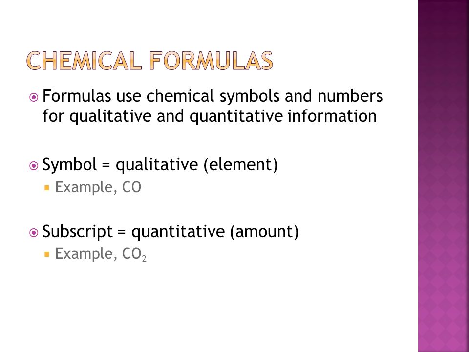 Chemical Formulas and equations - ppt download