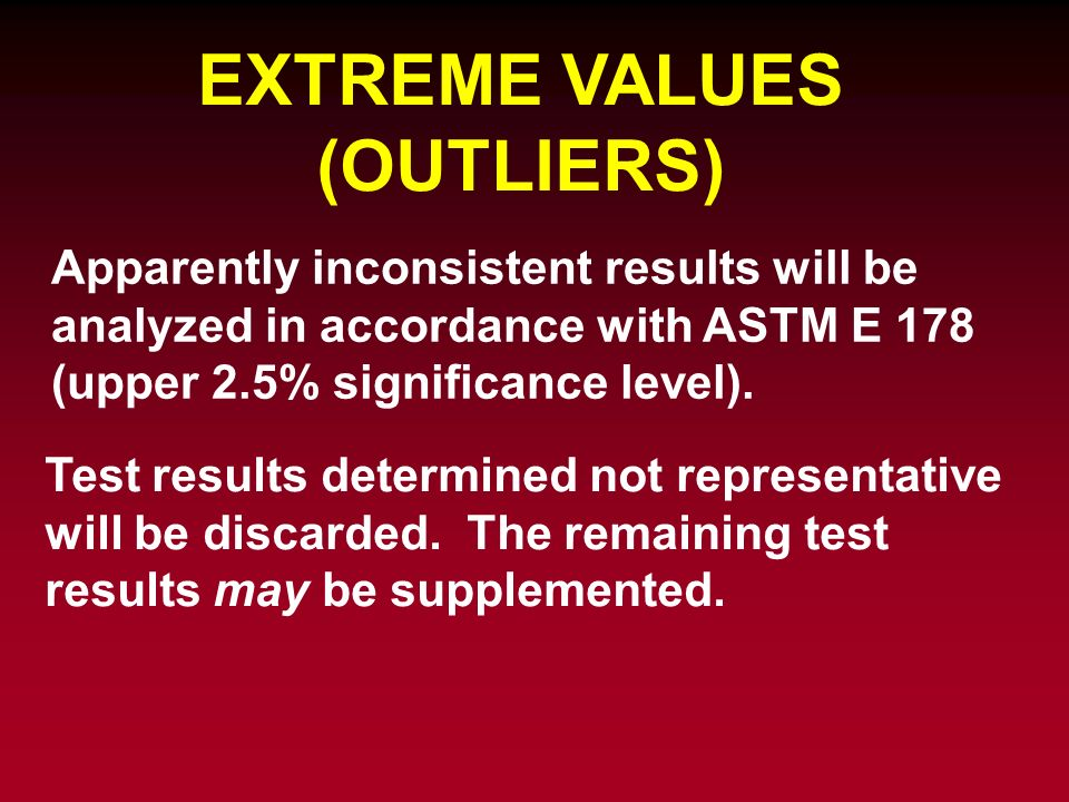 EXTREME VALUES (OUTLIERS)