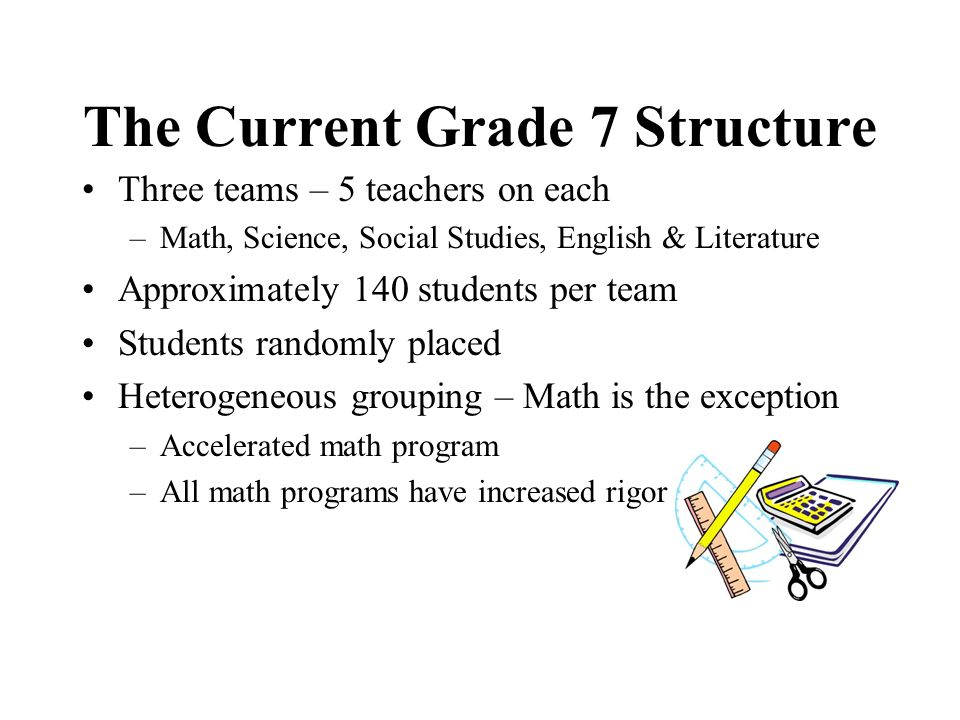 The Current Grade 7 Structure