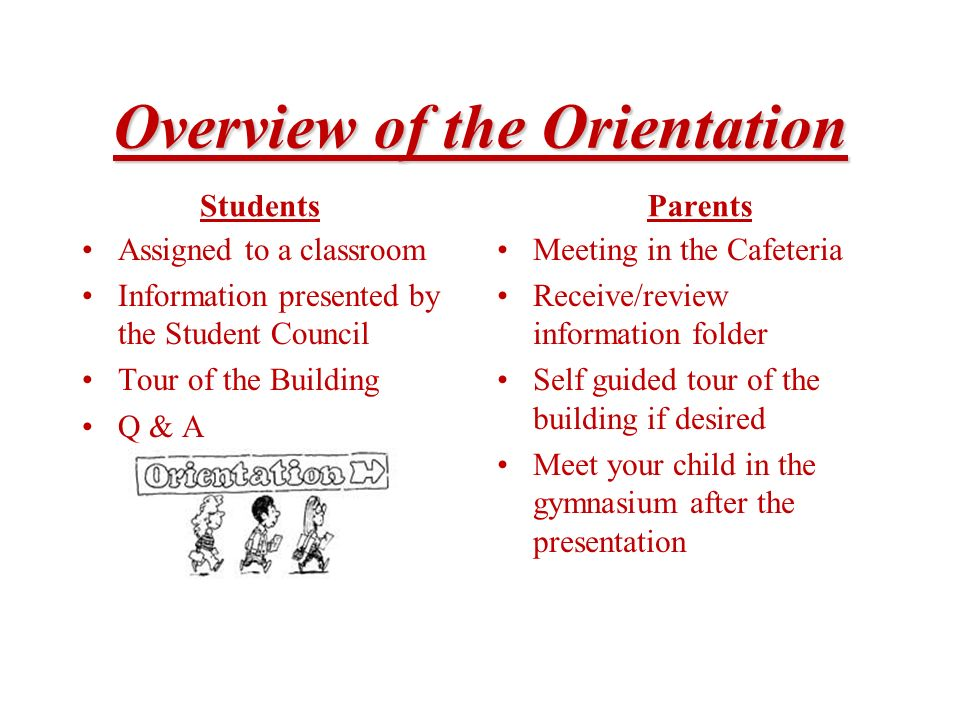 Overview of the Orientation