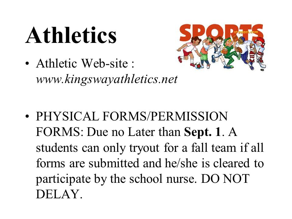 Athletics Athletic Web-site : www.kingswayathletics.net