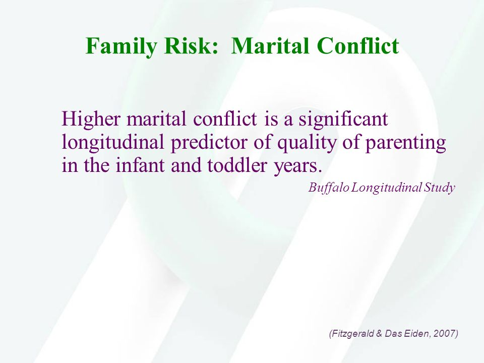 Family Risk: Marital Conflict
