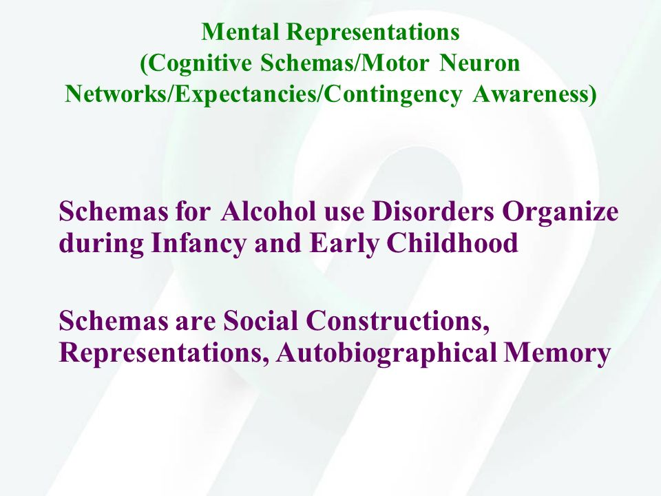 Mental Representations (Cognitive Schemas/Motor Neuron Networks/Expectancies/Contingency Awareness)