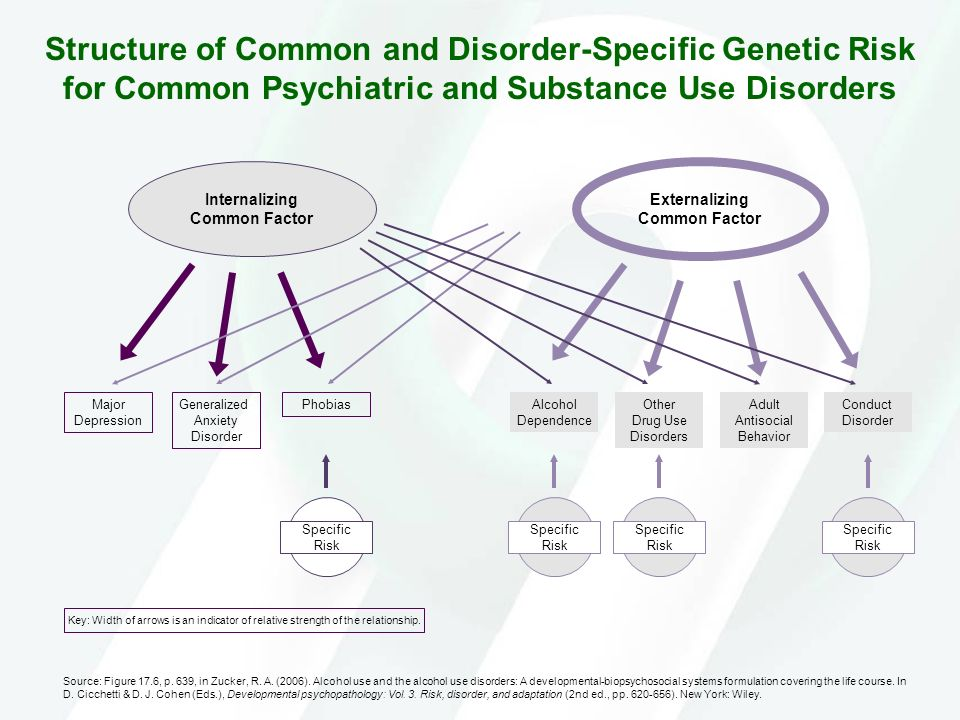 Structure of Common and Disorder-Specific Genetic Risk for Common Psychiatric and Substance Use Disorders