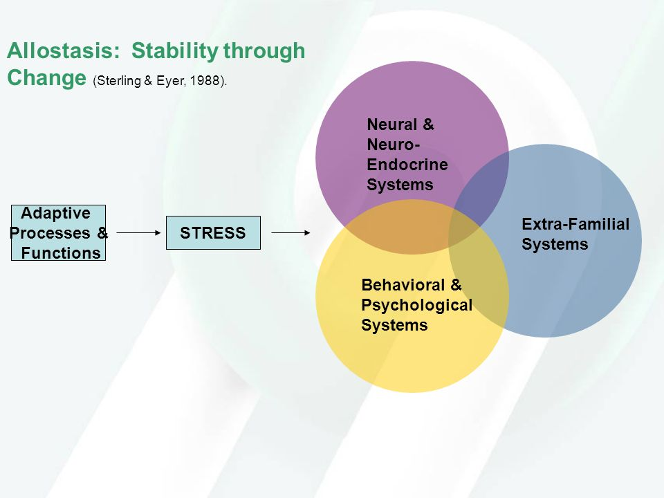 Allostasis: Stability through Change (Sterling & Eyer, 1988).