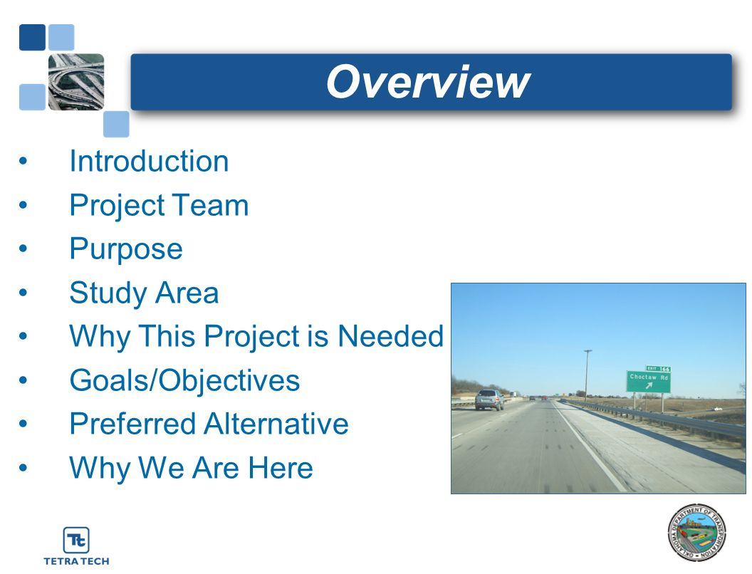 Overview Introduction Project Team Purpose Study Area