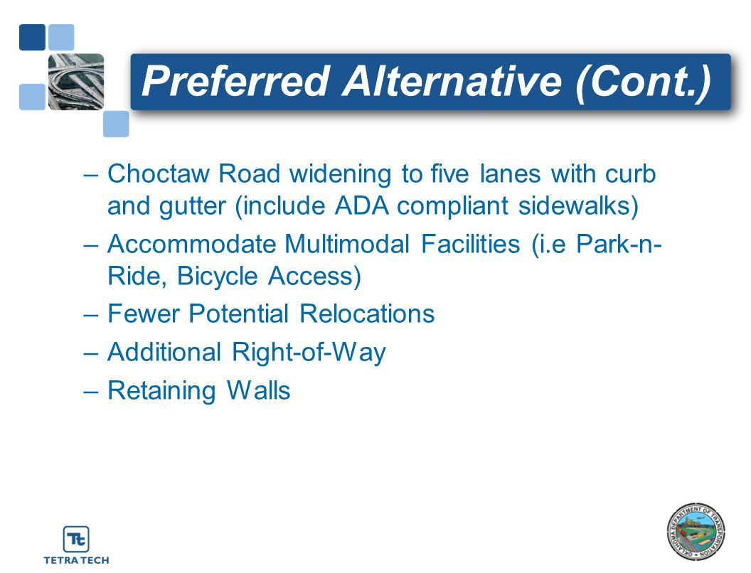 Preferred Alternative (Cont.)