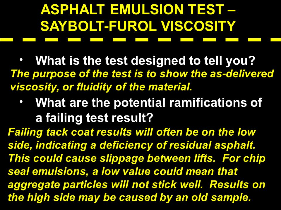ASPHALT EMULSION TEST – SAYBOLT-FUROL VISCOSITY