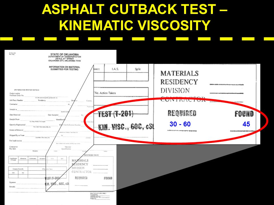 ASPHALT CUTBACK TEST – KINEMATIC VISCOSITY