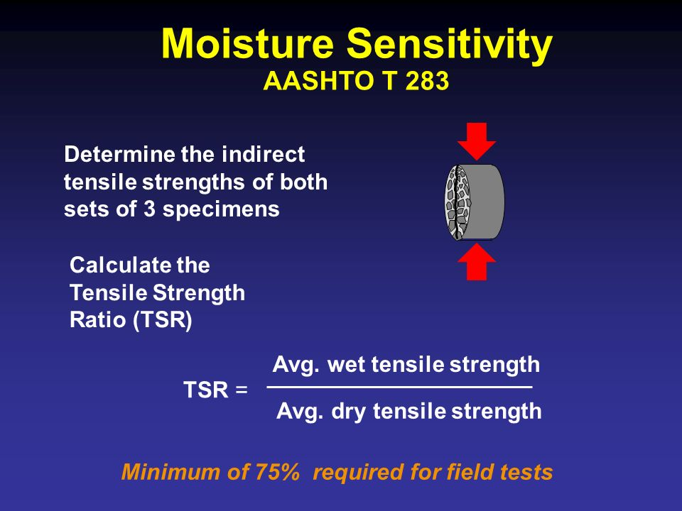 Moisture Sensitivity AASHTO T 283