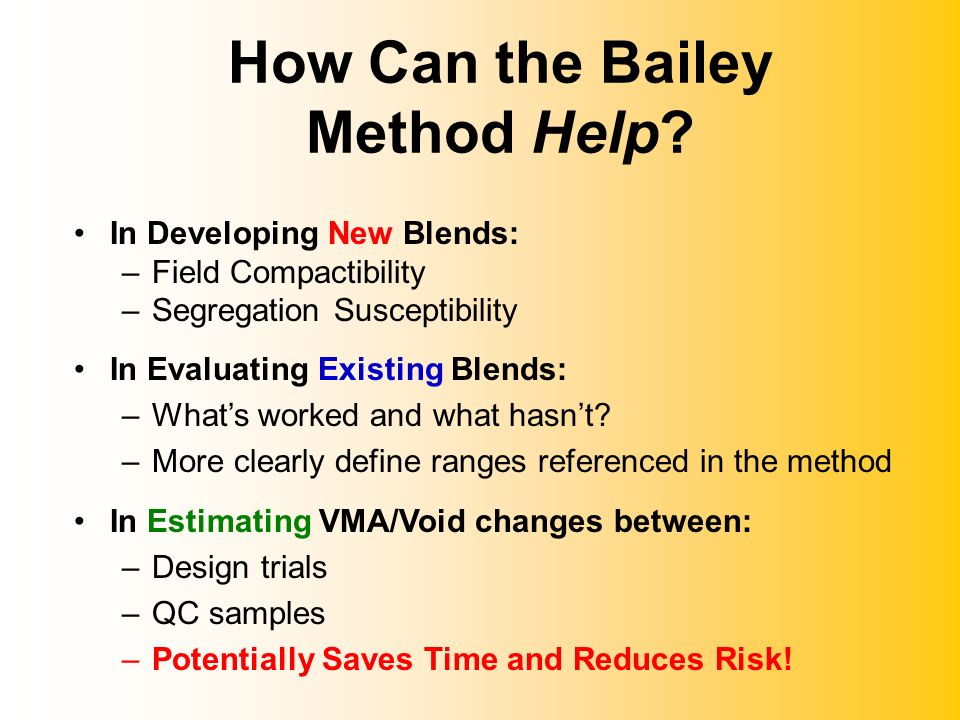 How Can the Bailey Method Help