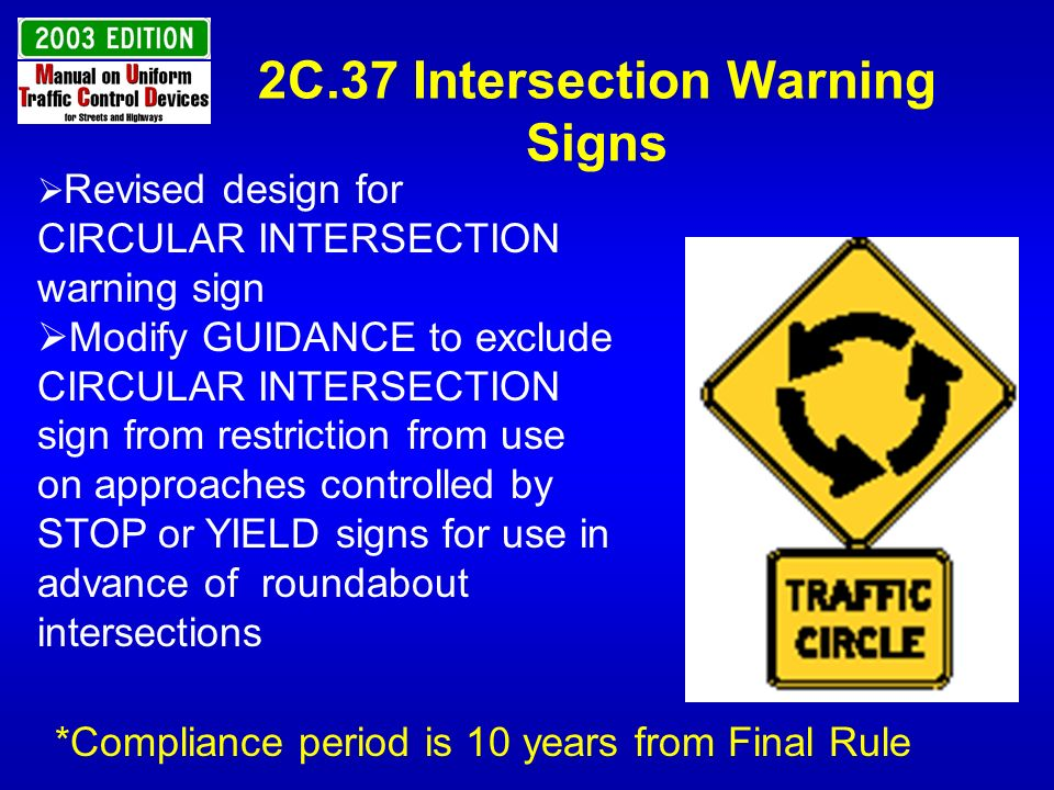 2C.37 Intersection Warning Signs