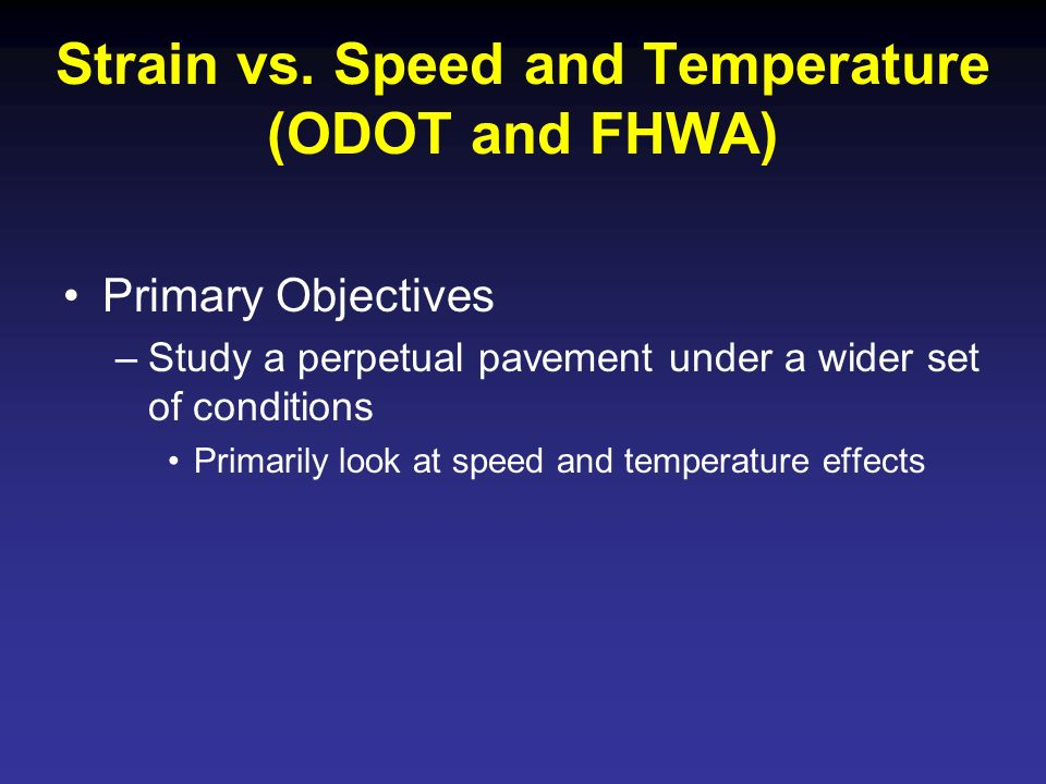 Strain vs. Speed and Temperature (ODOT and FHWA)