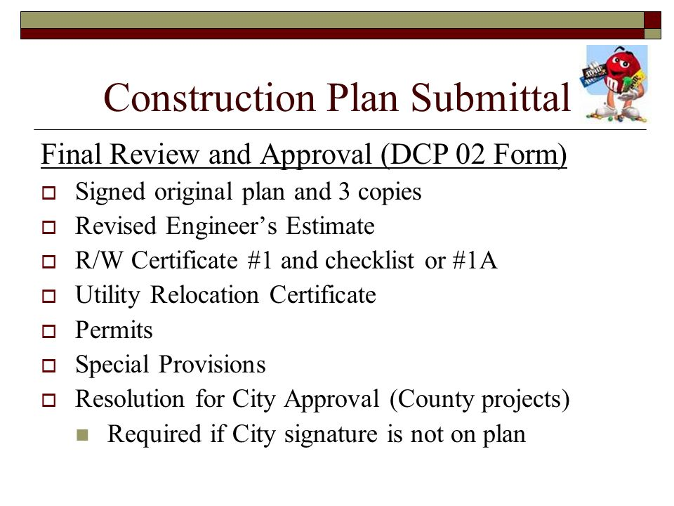 Construction Plan Submittal