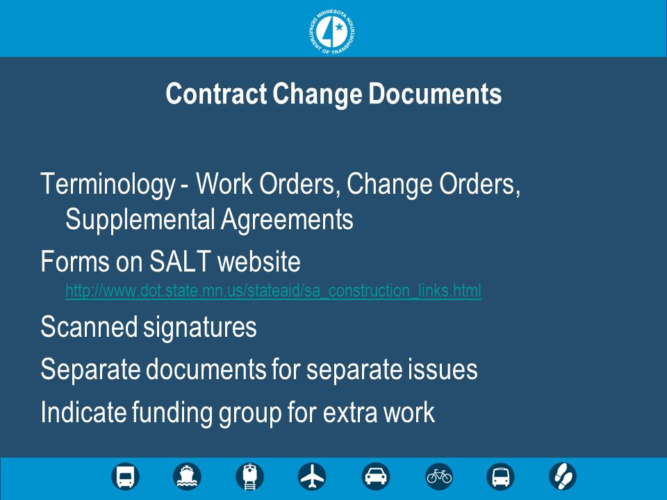 Contract Change Documents