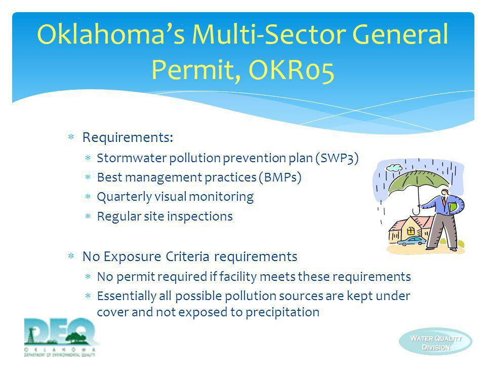 Oklahoma's Multi-Sector General Permit, OKR05