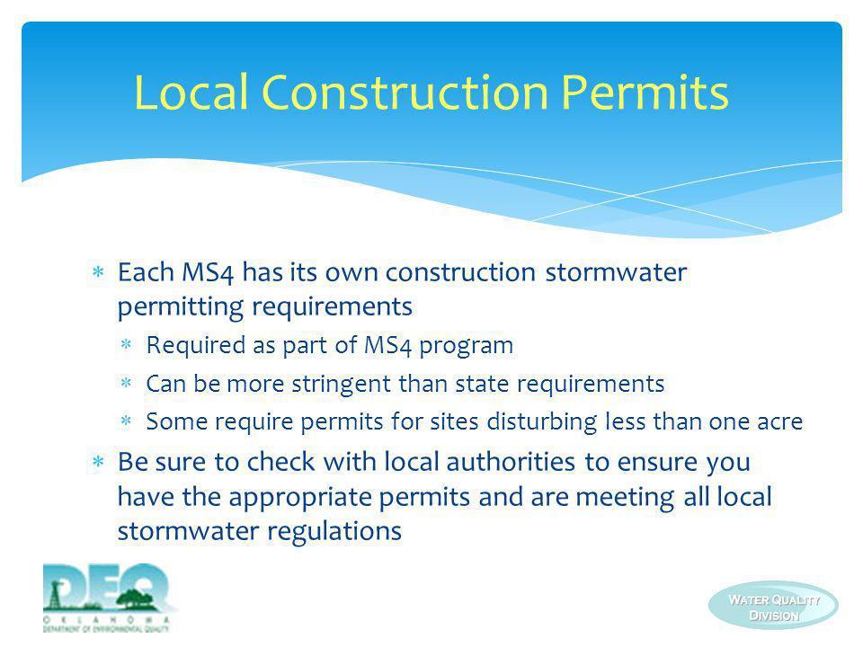 Local Construction Permits