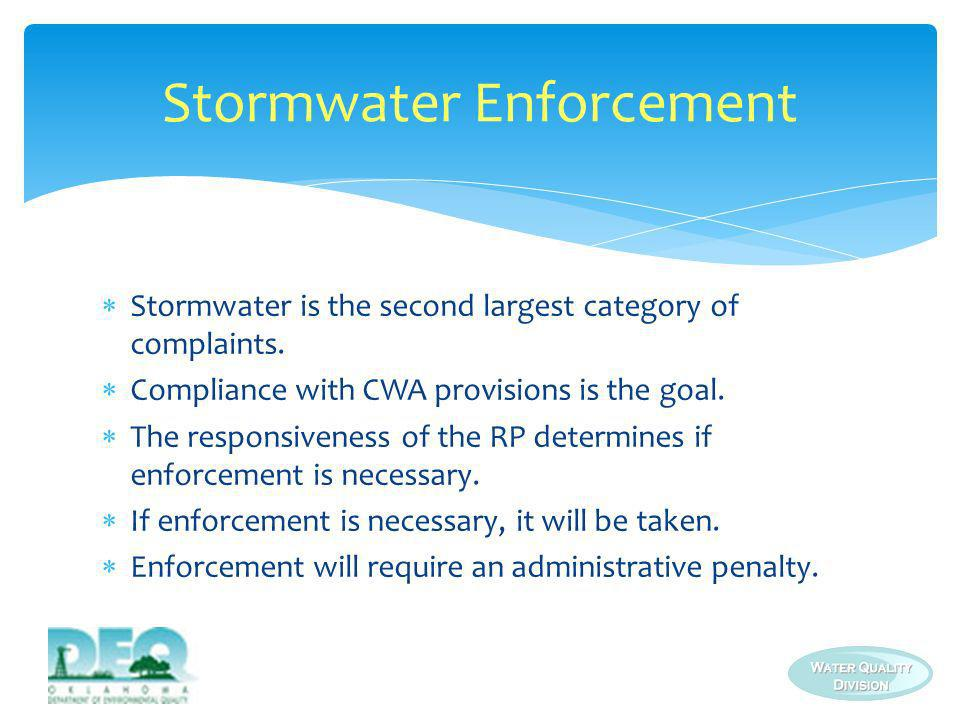 Stormwater Enforcement