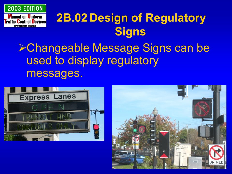 2B.02 Design of Regulatory Signs