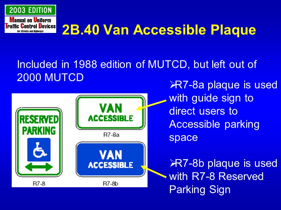 2B.40 Van Accessible Plaque