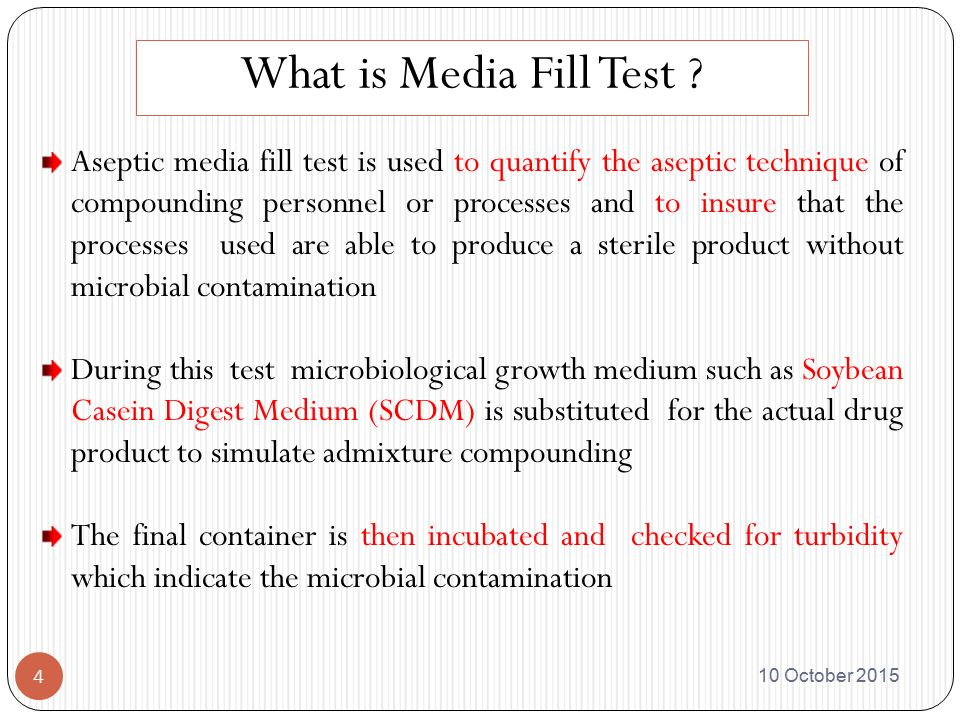 Validation Of Integrated Line By Media Fill Test Ppt
