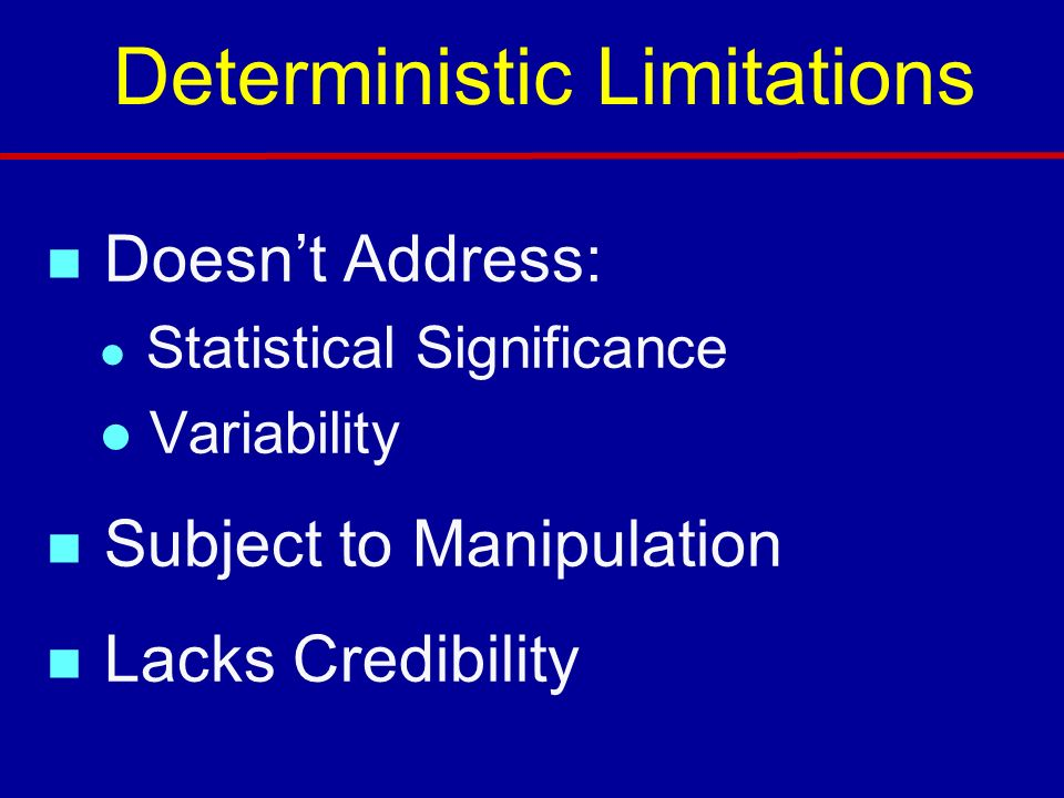 Deterministic Limitations