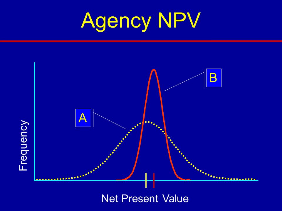 Agency NPV B A Frequency Net Present Value