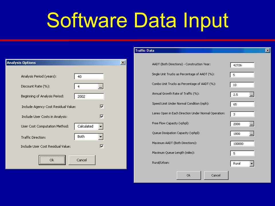 Software Data Input